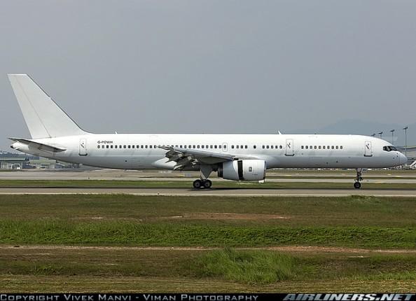 British PM David Cameron arriving in KUL on this all-white Titan Airways Boeing 757-200 G-POWH | KUL | Jul 30 2015
